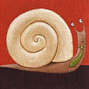 Business Snail Painting Art Print