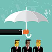 Businessmen Protection Art Print