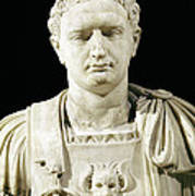 Bust Of Emperor Domitian Art Print by Anonymous