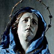 Bust Of Painful Virgin Art Print