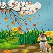 Buster And The Tree Art Print