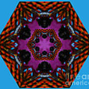 Busy  Bee Kaleidoscope Art Print