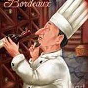 Busy Chef With Bordeaux Art Print