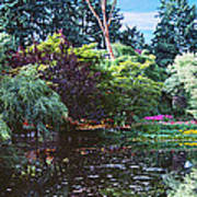 Butchart Gardens Is A Group Of Floral Display Brentwood Bay Art Print