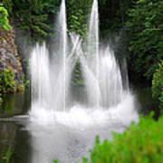 Butchart Gardens Waterfalls Art Print