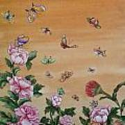 Butterflies And Flowers Art Print