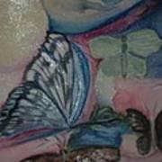 Butterflies And Spheres Art Print