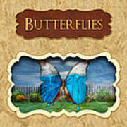 Butterflies Button Art Print
