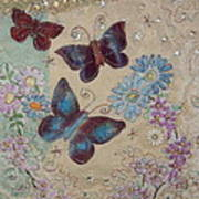 Butterflies Art Print by Hazel Millington