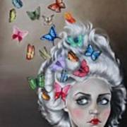 Butterflies In The Thoughts Art Print