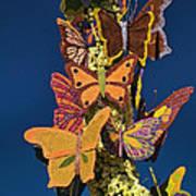 Butterflies On A 2015 Rose Parade Float 15rp047 Art Print