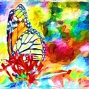 Butterfly Abstracted Art Print
