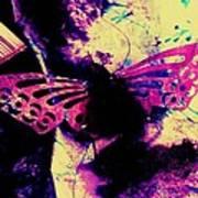 Butterfly Disintegration  Art Print