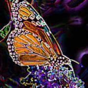Butterfly Garden 24 - Monarch Art Print