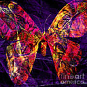 Butterfly In Abstract Dsc2977 Square Art Print