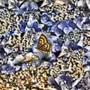 Butterfly In Blue Art Print