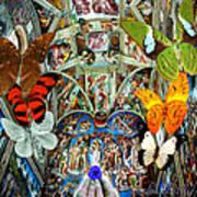 Butterfly In Cappella Sistina Sistinechapel Art Print