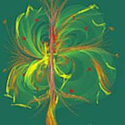 Butterfly In Green Art Print