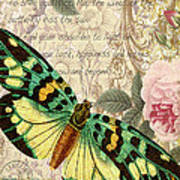Butterfly Kisses-b Art Print