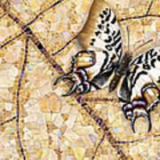 Butterfly Mosaic 01 Elena Yakubovich Art Print by Elena Yakubovich