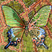 Butterfly Mosaic 03 Elena Yakubovich Print by Elena Yakubovich