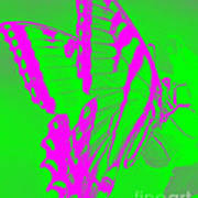Butterfly Ode To Andy Warhol Art Print