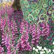 Butterfly Park Flowers Painted Wall Las Vegas Art Print