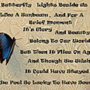 Butterfly Poem Art Print