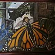 Butterfly Reflections Art Print by Diane Mitchell