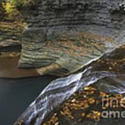Buttermilk Falls In Autumn I Art Print