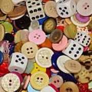 Buttons 676 Art Print