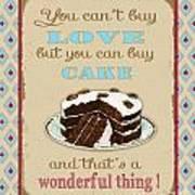 Buy Cake Typography Art Print