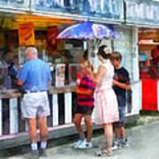 Buying Ice Cream At The Fair Art Print