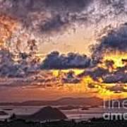 Bvi Sunset   Art Print