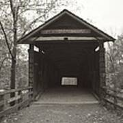 Bw Humpback Bridge Opening Art Print