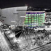 Bw Of American Airline Arena Art Print