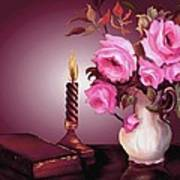 By Candle Light Art Print