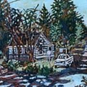 Near Reeds Art Print