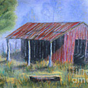 By The Barn Out Back Art Print