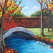 By The Bridge Art Print