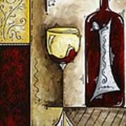 By The Fireside Original Madart Painting Art Print