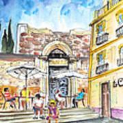 By The Old Cathedral In Cartagena 01 Art Print