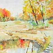 By The Pond Art Print