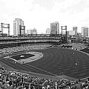 By The Right Field Foul Pole Bw Art Print