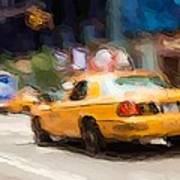 Cab Ride Art Print