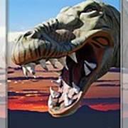 Cabazon Dinosaur Art Print