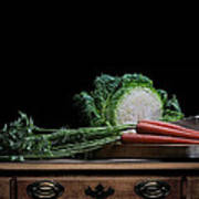 Cabbage And Carrots Art Print