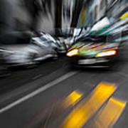 Cabbie Too Fast Art Print