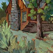 Cabin At Big Bear Lake Art Print