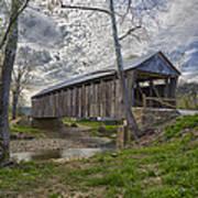 Cabin Creek Covered Bridge Art Print